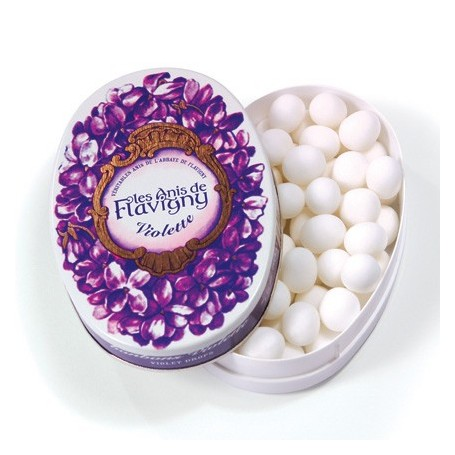 BOITE OVALE 50 G - VIOLETTE